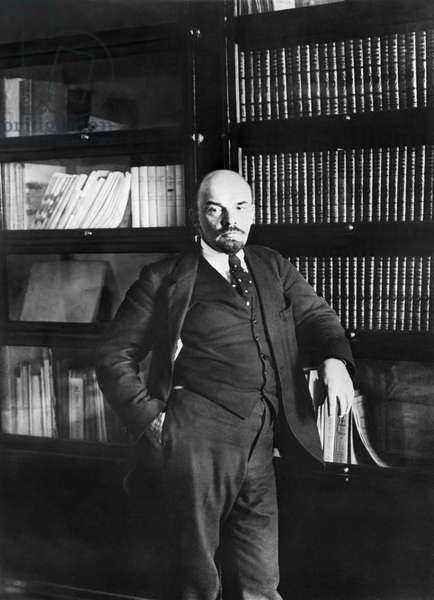 Lenin In His Study In Kremlin