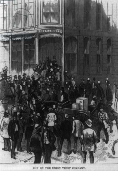 Scenes in Wall Street during the panic. Run on the Union Trust Company 18730101.