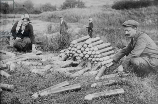 German ammunition abandoned at Battle of the Marne, 1914