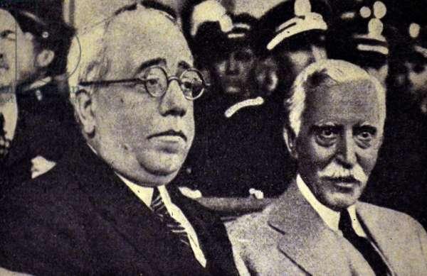 Spanish civil war: The Das Pesidentes : Azana and Alejandro Lerroux y Garcia