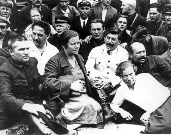 Stalin and Kirov (Same Row, Far Left) in 1930.