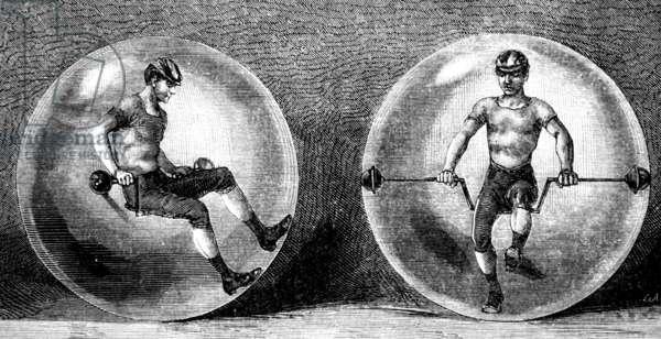Transparent spherical velocipede