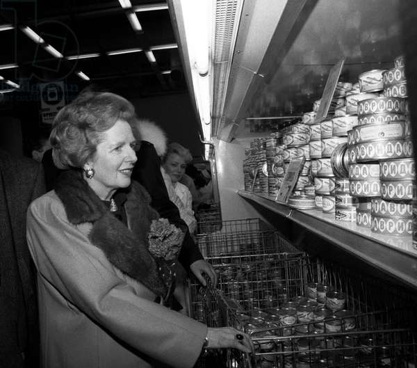 Margaret Thatcher Visits A Department Store In Krylatskoe District