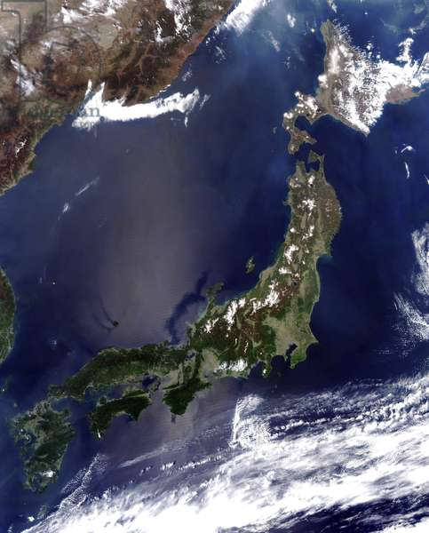 Satellite view of the islands of Japan. Credit: NASA. Science Earth Geology Oceanography