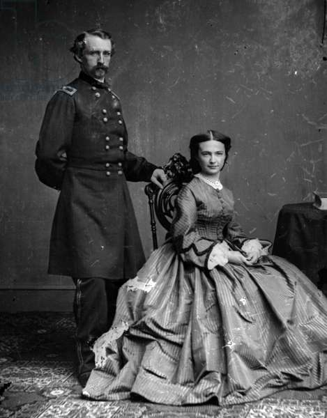 portrait of General George Custer and his wife