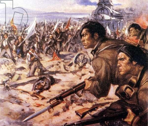 Spanish civil war 1936 1939 Fascism. Italian Legionaries in Spain against the Reds