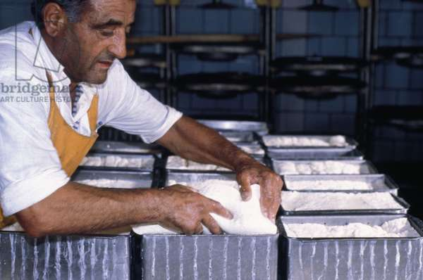 A Man Making Cheese At A Factory In Armenia, 2003