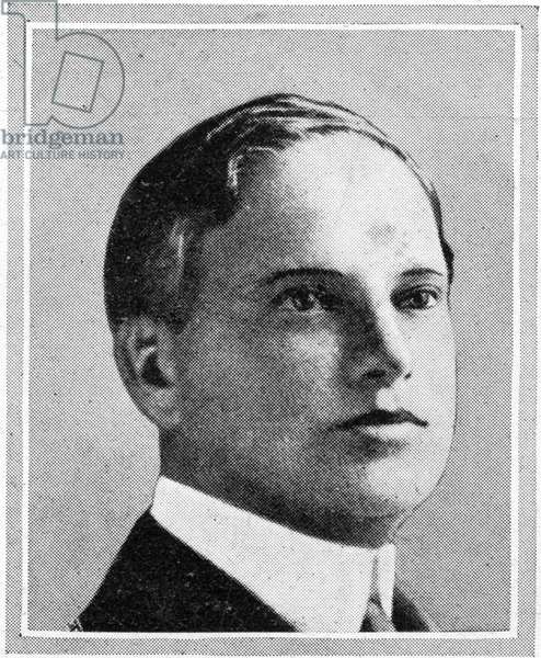 Passengers on RMS Titanic.  Photograph of Mr Benjamin Guggenheim, one of the American millionaires lost on the Titanic.  He was the fifth of the seven sons of Meyer Guggenheim and a member of the famous family of bankers, miners and smelters.  Mr Guggenheim was born in 1865.  Titanic was built by Harland & Wolff in Belfast Ireland during 1910 - 1911 and later sank on April 15th, 1912 off the coast of New Foundland after striking an iceberg during her maiden voyage from Southampton, England to New York, USA, with the loss of 1,522 passengers and crew. (Photo by Titanic Images/Universal Images Group) Photographie.  ©UIG/Leemage
