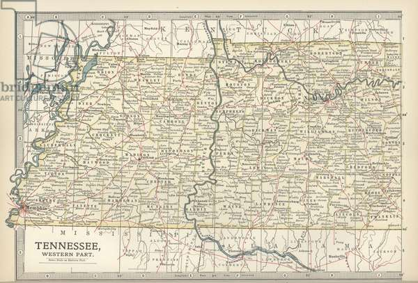 Map of western Tennessee