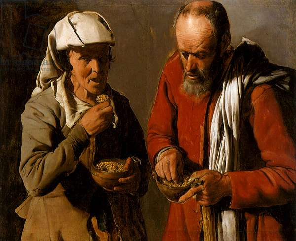 Peasant Couple Eating, 1621 (oil on canvas)