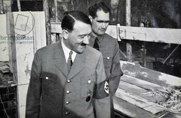 Adolf Hitler 1889-1945. German politician with his deputy Rudolf Hess.