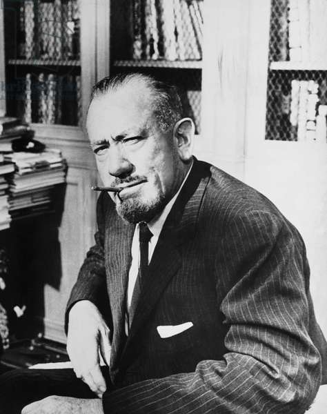 Author John Steinbeck, United States, c.1965 (b/w photo)