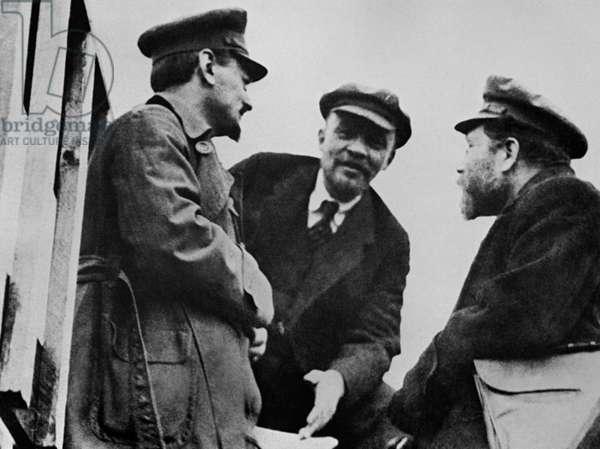 Vladimir Lenin, Lev Trotsky And Lev Kamenev
