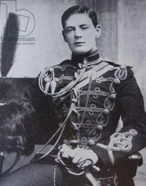 Winston Churchill in military uniform, 1895