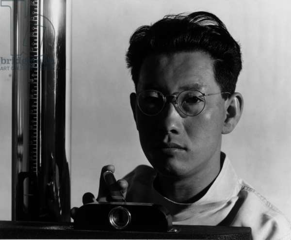 Michael Yonemetsu (Yonemitsu), x-ray technician, Manzanar Relocation Center, California, 1943 (photo)