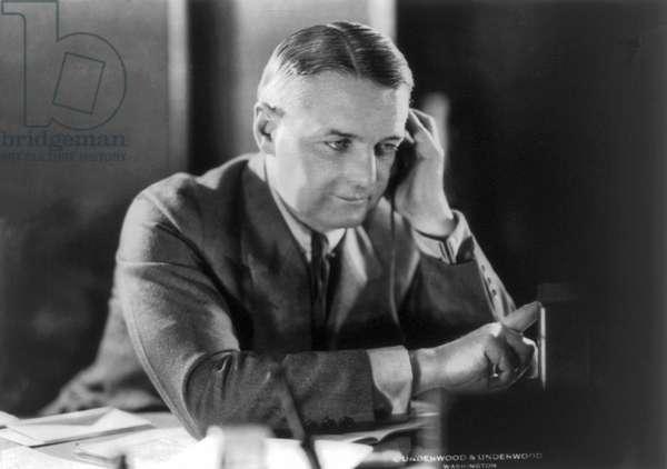 William Joseph Donovan At Desk (b/w photo)