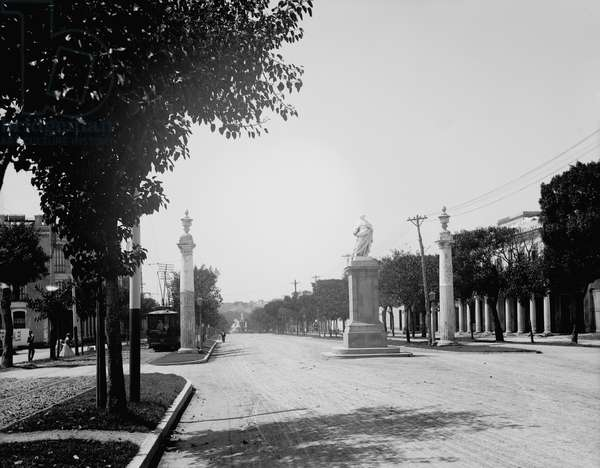 Havana, Cuba, Avenida de Carlos III (Carlos III Avenue) (b/w photo)