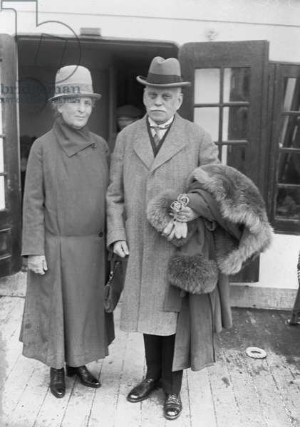 Count Konrad V Zeppelin and Wife, 1914