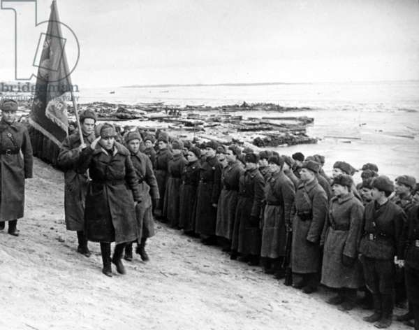 Presentation of a Guard'S Banner, Stalingrad Jan, 1943.