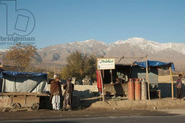Gas Vendor Along A Kabul Street, Afghanistan (photo)