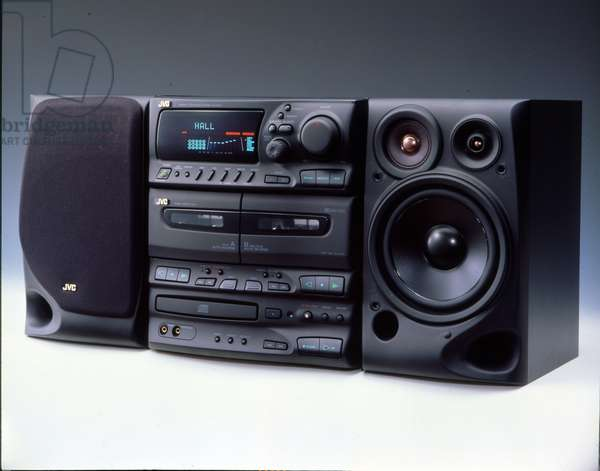 JVC Stereo music system with CD and tape player