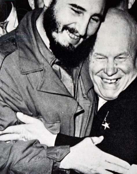 Nikita Khrushchev with Fidel Castro, 1950