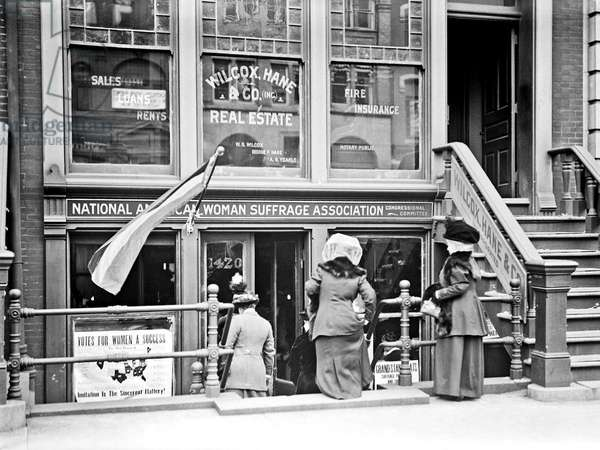 Headquarters, National Woman Suffrage Organisation, Washington DC, 1913.