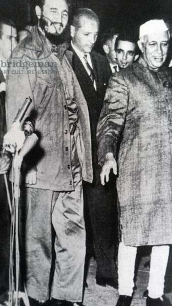 Jawaharlal Nehru, Prime Minister of India with Cuban leader Fidel Castro, 1961