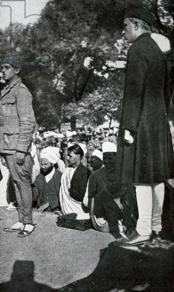 Jawaharlal Nehru during the Lahore Congress.