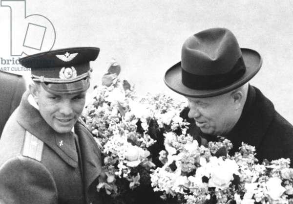 Welcome Of Yuri Gagarin In Vnukovo Airport