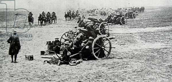 British artillery in France, 1918