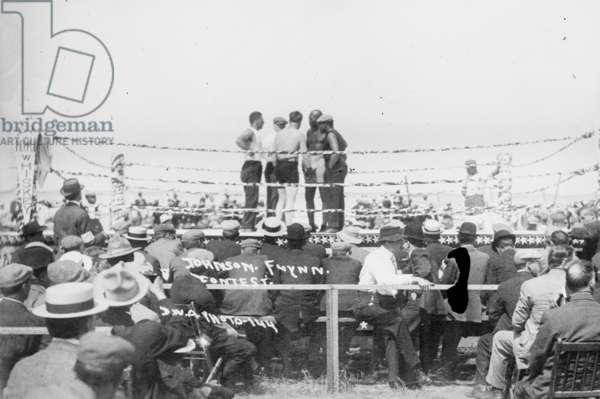 Jack Johnson Flynn Bout 1912 (photo)