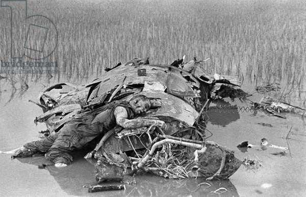 A Dead American Soldier In The Vietnam War