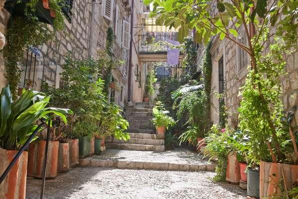 Street Scene in the Old Town of Dubrovnik, Dubrovnik-Neretva, Croatia (photo)