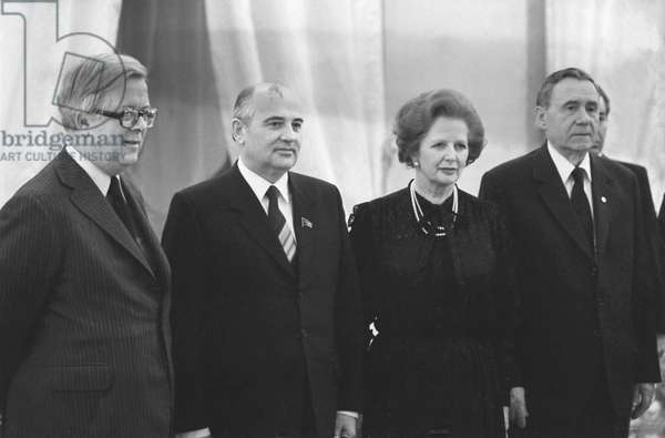 Mikhail Gorbachev Meeting With Margaret Thatcher In Moscow, 1985
