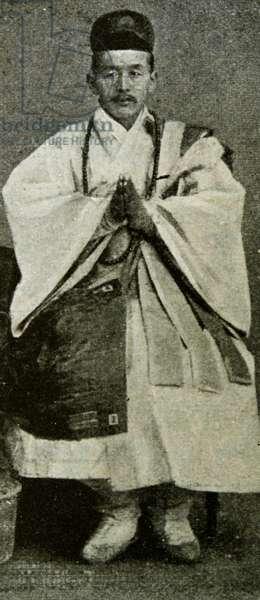 Photographic portrait of a Korean Buddhist Abbot