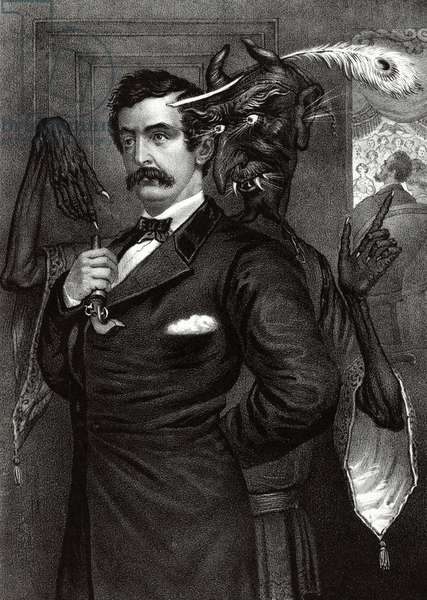 Lincoln's assassin being goaded by the devil, 1865