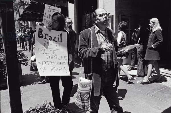 Allen Ginsberg, San Francisco, California, USA, 1971 (b/w photo)
