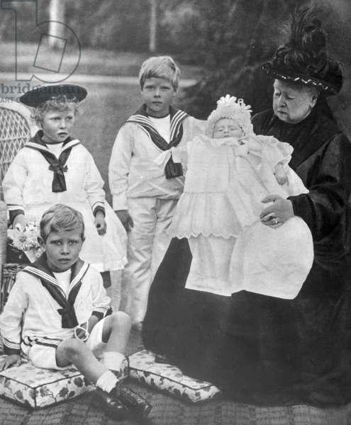 Queen Victoria and her Great Grandchildren, 1898