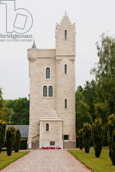 Ulster Tower, An Exact Replica of the Tower on Lady Helen Dufferin's Property at Clnboye, Northern Ireland, Where the Irish Division Underwent Its Training Before the Battle of the Somme, Thiepval, Somme, France (photo)