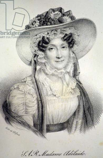 Madame Adelaide of France, 1840 (litho)
