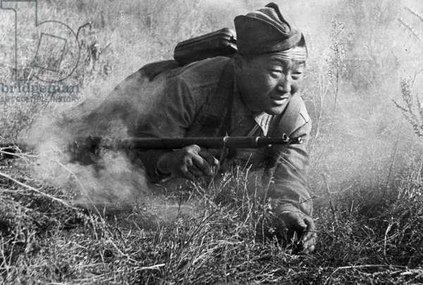 World War 2, Battle of Stalingrad, Kalmyk Guardsman Bamba Ochir Kikidjeyev