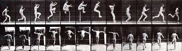 Man running and jumping, 1887