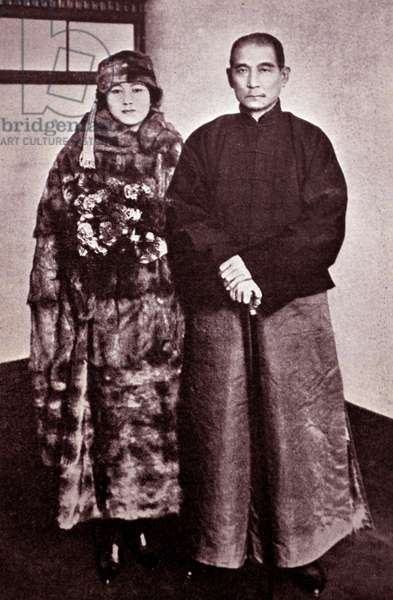 Sun Yat-Sen (1866-1925) and his wife - was a Chinese revolutionary, first president and founding father of the Republic of China