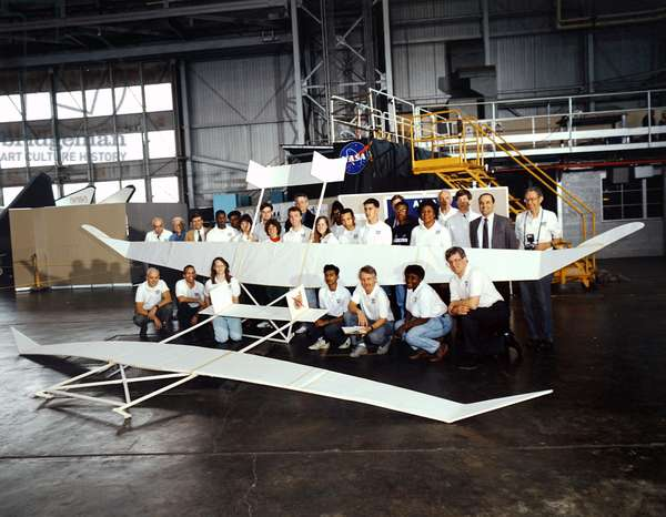 The NASA space research project involving a glider