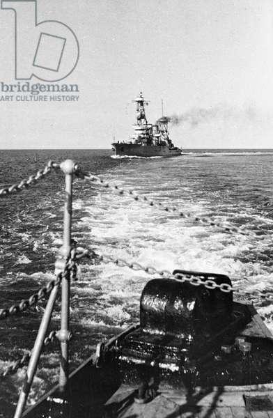 Black Sea Fleet, Soviet Battleship Krasny Kavkaz During Exercises, June 1939.