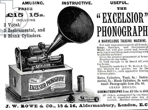 Advertisement for a Edison phonograph