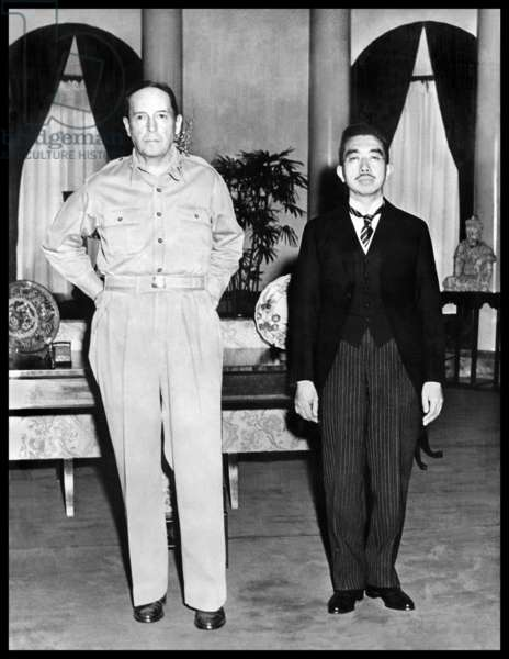 General Douglas MacArthur and Emperor Hirohito of Japan