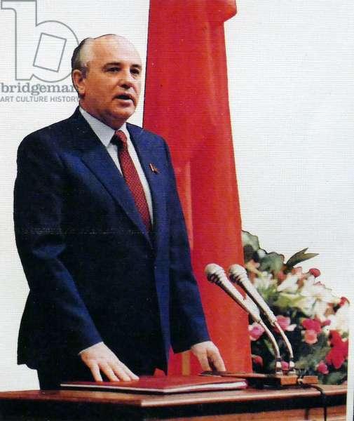 Mikhail Gorbachev, 1990