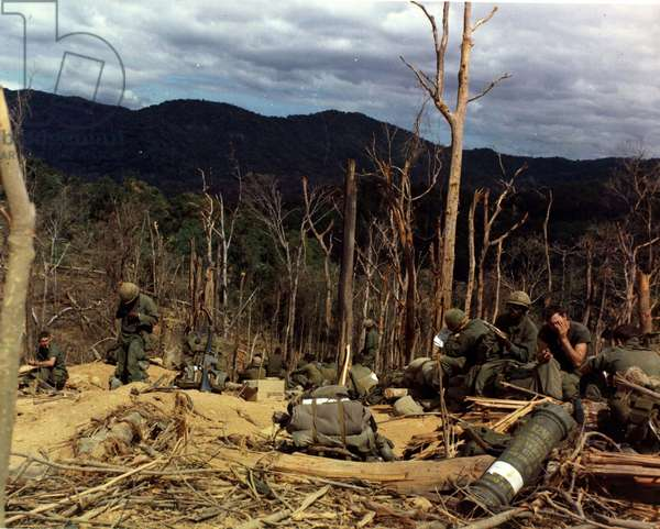12th Infantry soldiers of the United States Army during the Vietnam War (photo)